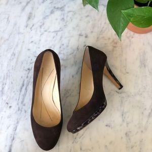 Kate Spade KENDRA chocolate Brown Suede Heels